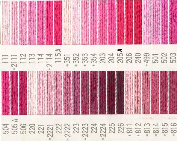 ピンクのカラーバリエーション