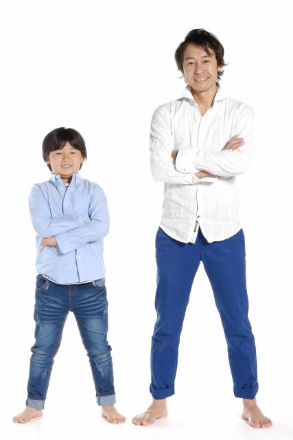 パパと子供のリンクコーデ Rocka